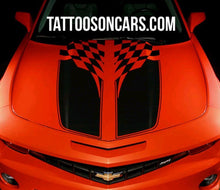 Load image into Gallery viewer, 11 12 13 14 chevy camaro checkored racing stripe decal set