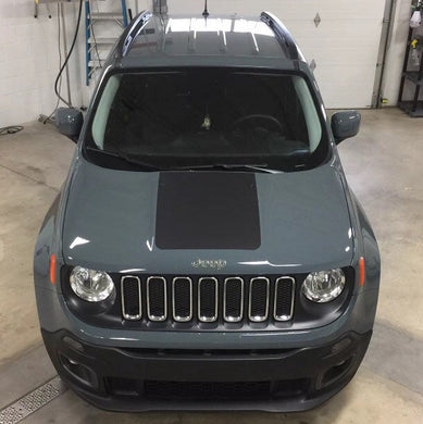 2015-2019 jeep renegade side door decal set plus hood blackout decal + FREE window banner!!FREE