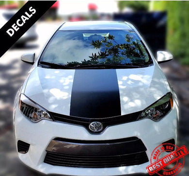 2004-2018 Toyota Corolla large wide center stripe for hood.