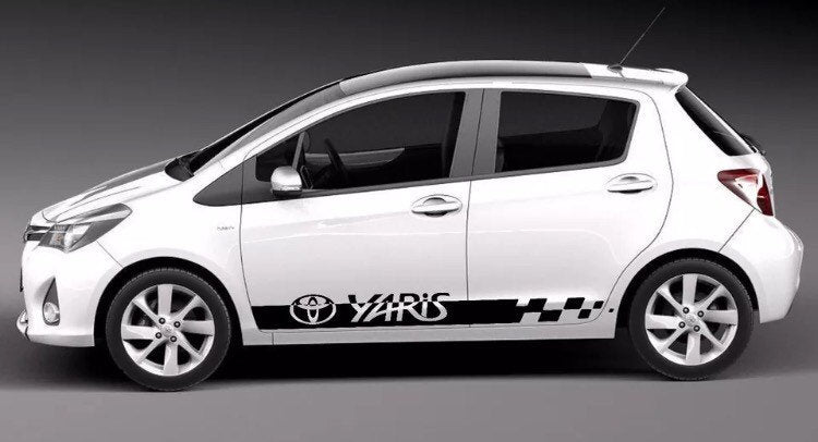Toyota Yaris lower door stripe set all years many colors available
