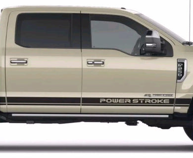 1950-2019 ford f-250 power stroke lower stripe decal set