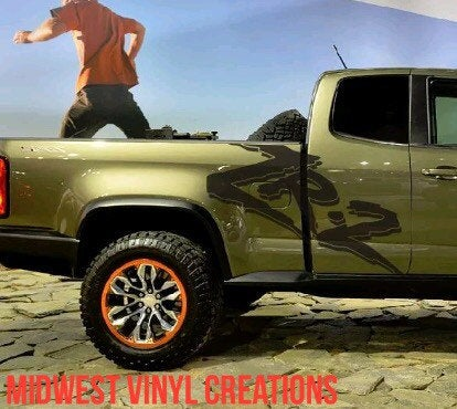 Chevrolet chevy Colorado Zr2 large side decal set plus free gift.