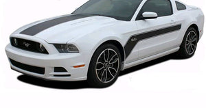 2010-2014 ford mustang hood and side hockey style side decal kit