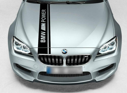 Bmw hood stripe decal kit with wording all year Bmw