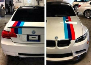 Bmw m3 racing stripe decal kit for all models and years