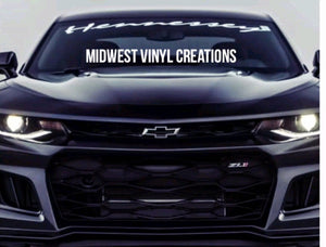 Hennessy edition camaro windshield banner decal