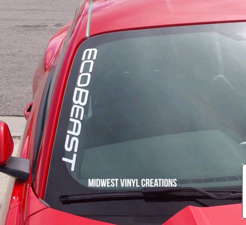 Ford Mustang ecobeast window decal sticker 14
