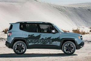2015-2019 jeep renegade side mid decal splash kit many colors available.