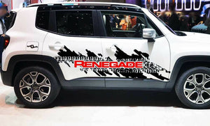 2015-2019 jeep renegade 2 color combo large side decal kit many colors available