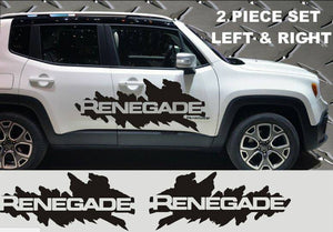 2015-2019 jeep renegade large mud splash decall kit many colors