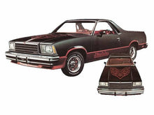 Load image into Gallery viewer, Chevy el camino diablo package hood and side decal kit many colrs available