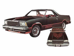 Chevy el camino diablo package hood and side decal kit many colrs available