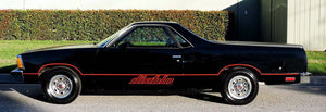 Chevy el Camino diablo lower side decal set kit many colors available.