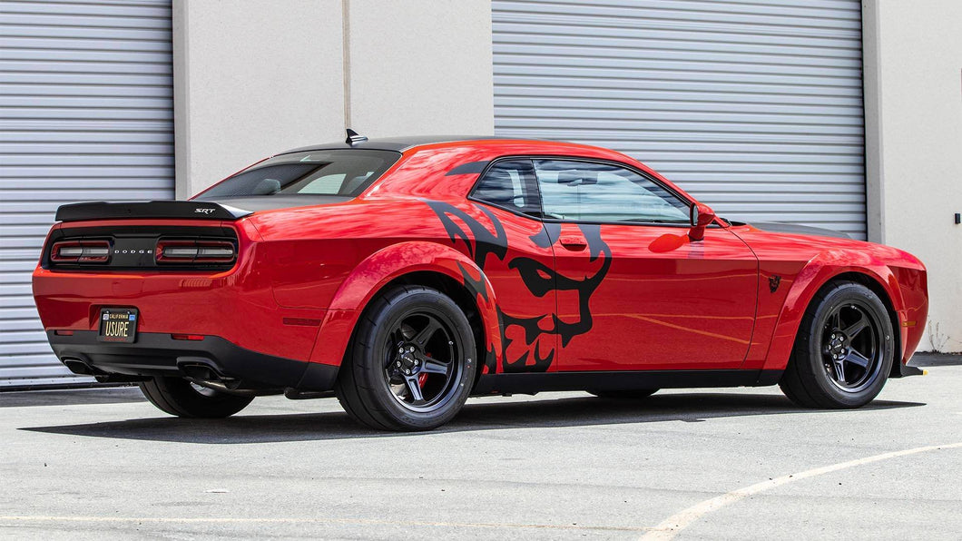 Dodge demon laege side demon head decal set kit many colors available