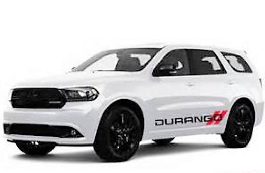 Dodge durango lower 2 color decal set kit