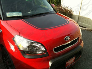 Kia soul combo kit hood decal blackout+rear gate blackout decal many colors all years kia soul
