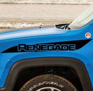 Jeep renegade front fender upper renegade slah decal set kit.many colors available