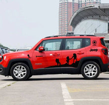 Load image into Gallery viewer, Jeep renegade side body hill climbing hiking edition decal set kit.many colors available