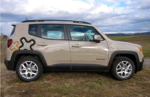 Jeep renegade rear side panel logo 2 color decal ser kit. Many color combos