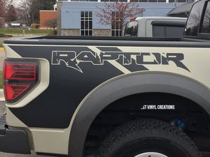 2010-2019 ford raptor f150 truck bed decal set plus hood blackout decal