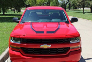 2016-2018 silverado special edition racing rally side stripe set and also hood rally set