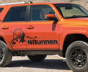 Toyota 4 Runner side mountain compass expedition side decal set for all year 4 Runner