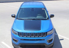 Load image into Gallery viewer, 2017-2018 Jeep Compass hood blackout decal