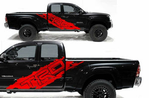 Toyota Tacoma TRD side body decal set.