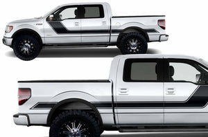 1950-2020 ford f-150 f-250 f-350 power stroke super duty side stripe decal kit custom cut to fit your truck