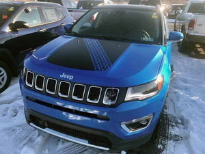 All year Jeep compass blackout tire tread hood decal kit. Many colors available.