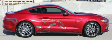 2015-2019 ford mustang large side body decal kit