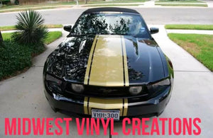 2010-up ford mustang wide center racing stripe set