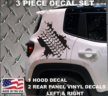 Load image into Gallery viewer, 2015-2019 jeep renegade rear sides tire tread decal kit