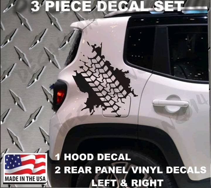 2015-2019 jeep renegade rear sides tire tread decal kit