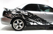 Load image into Gallery viewer, Subaru wrx sti ripped wrx logo side body decal set kit. All years subie.