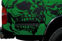 Load image into Gallery viewer, 1992-up toyota tacoma truck bed corners evil skull decal set kit.