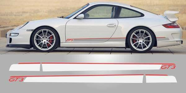Porsche gt3 lower 2 color combo stripe kit. Many colors available.