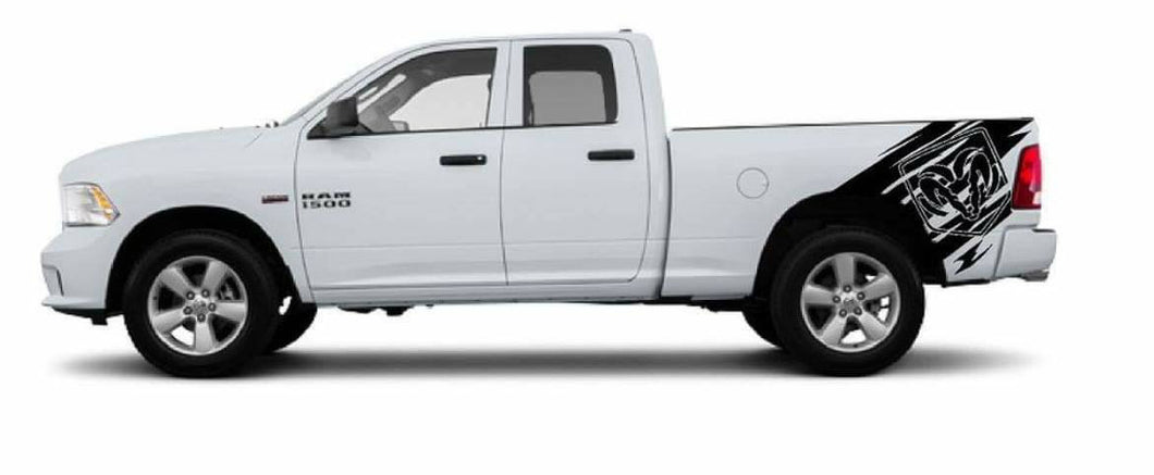 Dodge ram truck 1500 2500 3500 bed decal kit