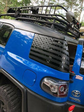 Load image into Gallery viewer, Toyota FJ Cruiser rear side window flag decal set (pair lft + rt) many colors available.