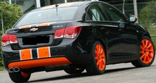 Load image into Gallery viewer, Chevy cruze 2 color racing stripe decal kit many color combos available