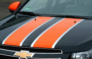 Chevy cruze 2 color racing stripe decal kit many color combos available