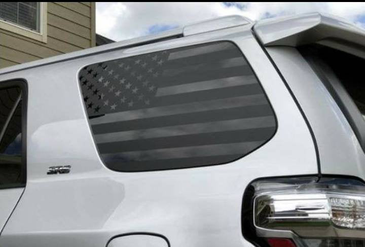 Toyota 4 runner window flag decal kit set.