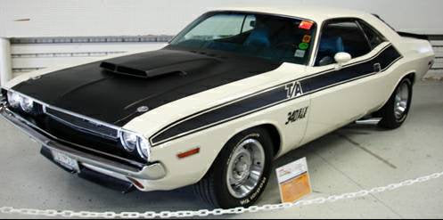 Dodge challenger classic stripe decal kit.