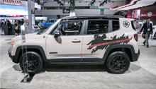 Load image into Gallery viewer, 2015-2019 Jeep renegade desert hawk rear 2 color side logo decal set. Many color combos.