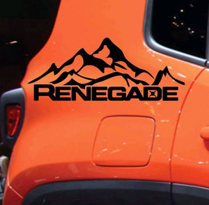 Jeep renegade rear panel logo decal set kit. Many colors available