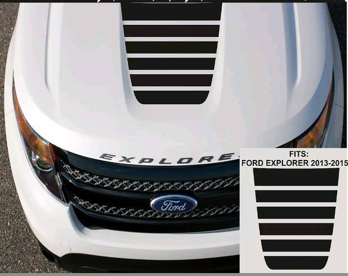 2013-2015 ford explorer center hood decal set kit. Many colors available.