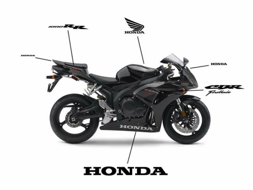 honda cbr 1000 full bike decal kit many colors available.