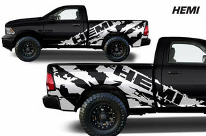 Dodge Ram Short bed ripped hemi decal set kit.many colors available