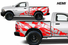 Load image into Gallery viewer, Dodge Ram Short bed ripped hemi decal set kit.many colors available