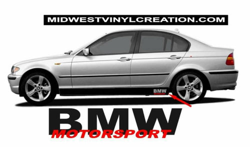 Bmw lower door Bmw motorsport decal kit all year & models many colors available.